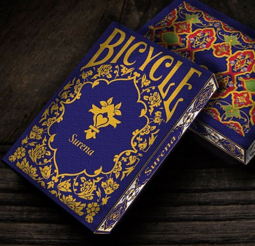 Bicycle Surena Navy Blue Trim Playing Cards