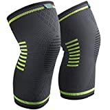 Knee Brace Support Compression Sleeves, Sable 1 Pair FDA Registered Wraps Pads for Arthritis, ACL, Running, Pain Relief, Injury Recovery, Basketball and More Sports