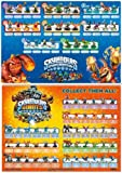 Skylanders Spyros Adventure & Skylanders Giants Figures Posters Set