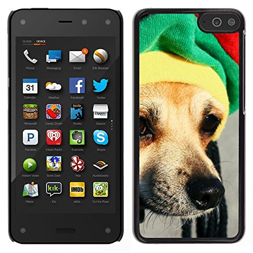 BearCase / Stark Shell-Kunststoff-Gehäuse-Schutzhülle /// Amazon Fire Phone /// Rasta Mütze Dog Chihuahua Muzzle Schnauze