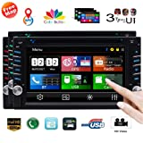 Double Din Car Stereo with GPS Navigation in Dash Car DVD Player 6.2 inch Capacitive Touchscreen Car Radio Receiver Handsfree Bluetooth Head Unit Colorful Button USB SD Subwoofer Video Out System (Color: GPS Car Stereo + 3 types of UIs)