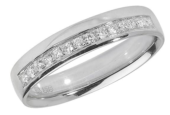 Diamond Wedding Ring Grain Set 18ct White Gold 0.16ct