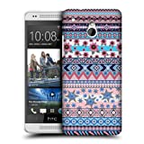 Head Case Blue And Pink Floral Aztec Protective Back Case Cover For Htc One Mini