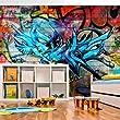 Vlies Fototapete 250x175 cm ! Top ! Tapete ! Wandbilder XXL Wandbild Bild Fototapeten Tapeten Wandtapete Wanddeko Wand Graffiti 10110905-4