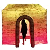 Upmarket Inflatable Photo Booth House Romantic Cabin Full Printing with 2LEDStripLight & Single Door for Wedding Party Business