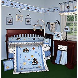 SISI Baby Bedding - Turtle Parade 14 PCS Crib Bedding Including Music Mobile