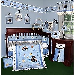 SISI Baby Bedding - Turtle Parade 14 PCS Crib Bedding Including Music Mobile