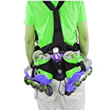 Denuoniss Professional Inline Skates Travel Backpack Waist Backpack (blue)