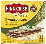 Finn Crisp Plus Five Whole Grains Thins, 6.7-Ounce Boxes (Pack of 9)