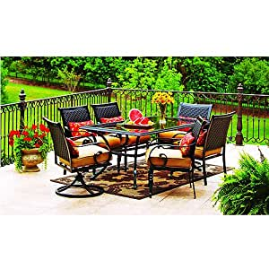 Better homes and gardens englewood heights 7 piece patio for Outdoor furniture amazon