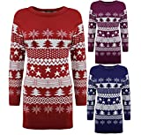 LADIES-WOMENS-KNITTED-CHRISTMAS-XMAS-TREE-FAIRISLE-NOVELTY-JUMPER-TOP-DRESS-8-16