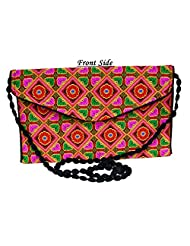 Designer Multi Women Clutch Embroidered Purse Evening Indian Handbag India - B01BDNZS90