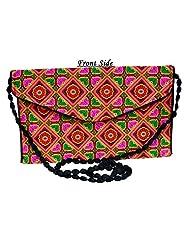 Designer Multi Women Clutch Embroidered Purse Evening Indian Handbag India - B01BDNZS90