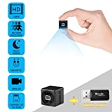 Mini Spy Camera JONYJ 1080P Full HD Hidden Cameras with Motion Detection/Night Vision for iPhone/Android Phone/iPad/PC, Wide-Angle Lens, Sports Action Cam with Mounting Accessories Kit (Color: Black)
