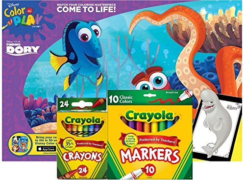 Finding Dory Giant Coloring Book with Crayola Markers and Crayons