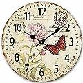 SkyNature Quartz Movement Silent Non-Ticking Wooden Wall Clocks