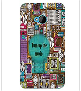 PrintDhaba Quote D-2677 Back Case Cover for HTC ONE M7 (Multi-Coloured)