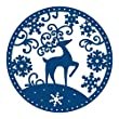 Snowglobe Reindeer: Tattered Lace Metal Die Paper Card Cutting Stephanie Weightman