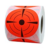 Hybsk Target Pasters 3 Inch Round Adhesive Shooting Targets - Target Dots - Fluorescent Red and Black(1 roll) (Tamaño: 1 roll)