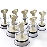 Massage Cupping Set Hand-powered Vacuum Pump+Cuppers Olympic Players' Best Choice(Set of 12) (Color: White, Tamaño: 12)