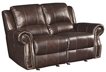 Loveseat with Rolled Panel Arm
