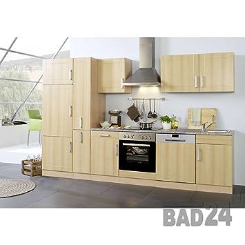 Kuchenblock 310 Vario ohne E-Geräte Apothekerschrank Buche/Buche