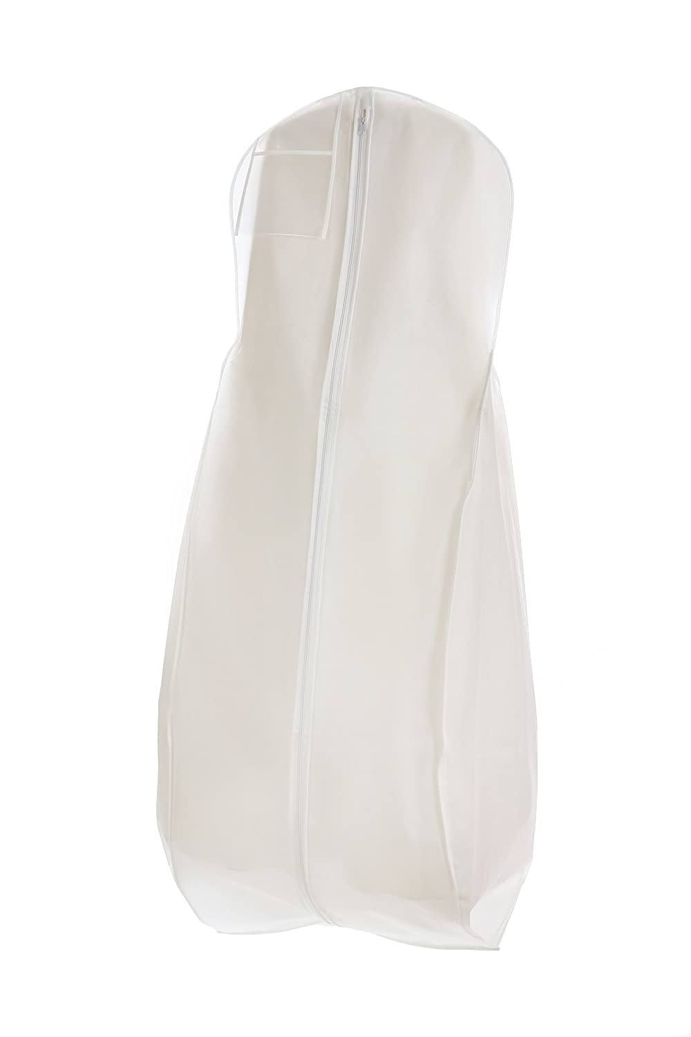 breathable white wedding gown garment bag storage huge paneled bottom