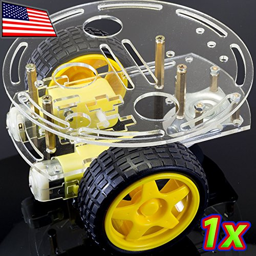 UPGRADE INDUSTRIES Two Wheel Drive Round Double Decker Smart Robot Car Chassis DIY Kit for Arduino by UPGRADE INDUSTRIES (Robot Upgrades compare prices)