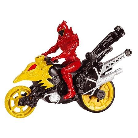 Bandai - 43077 - Power Rangers moto cascade + Figurine - 12 cm - Rouge