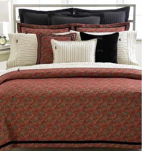 Lauren By Ralph Lauren Bleecker Street European Pillow Sham - Black And Gray Chalk Stripe