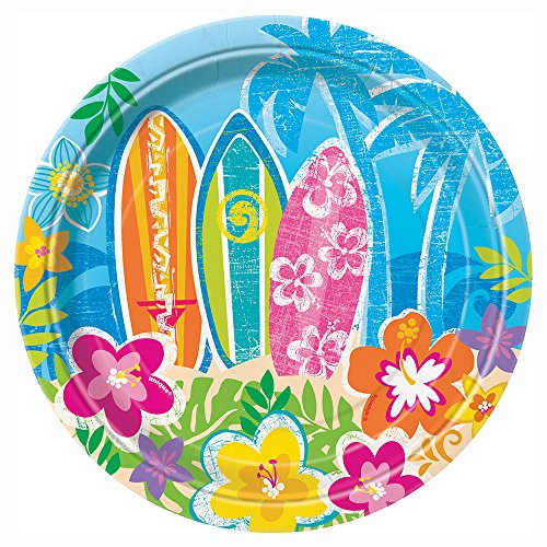 Hula Girl Luau Party Dessert Plates, 8ct