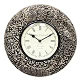 Home And Bazaar Traditional Rajasthani Wall Clock With Antique Brass Finish - B00REJQA40