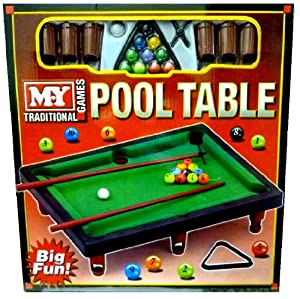 new my mini tabletop pool snooker table game set toy childrens xmas gift ty824. Black Bedroom Furniture Sets. Home Design Ideas