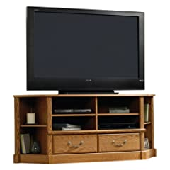 Sauder Orchard Hills Corner Entertainment Credenza - Carolina Oak