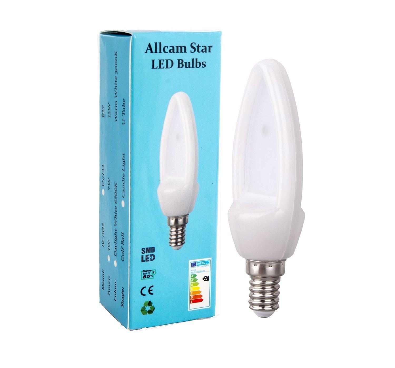 Allcam Star 4w Es E14 Led Candle Bulb Led Lights 6500k Daylight White New Ebay