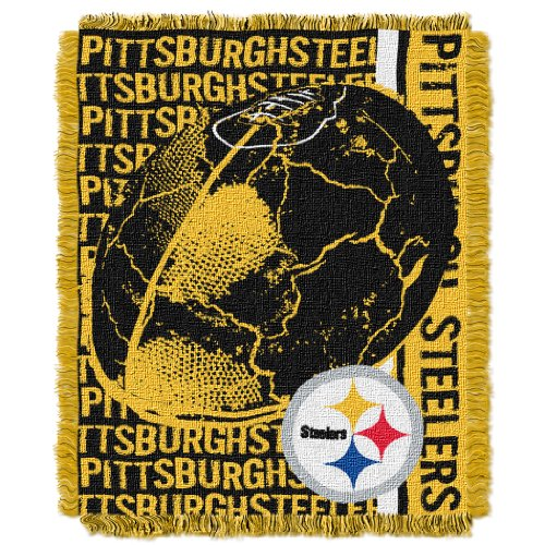 NFL Pittsburgh Steelers 48 x 60-Inch Double Play Jacquard Triple Woven Throw