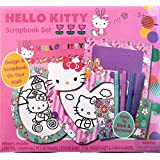 Sanrio Hello Kitty Scrapbook Kit Craft Project With Posters, Frames, Stickers And Markers