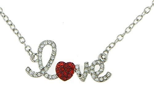 Sweet Cute Heart Love Amor Necklace Jewelry for Little Girls Women Girlfriend Mothers Day Christmas Birthday Valentines Gift Best Deal of the Day Sale Buy Now