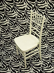 Extra Long Zebra Flocking Taffeta/Damask 10 ft High X 5 ft Wide. Photography Backdrop. Made in USA Exclusiverly By LA Linen