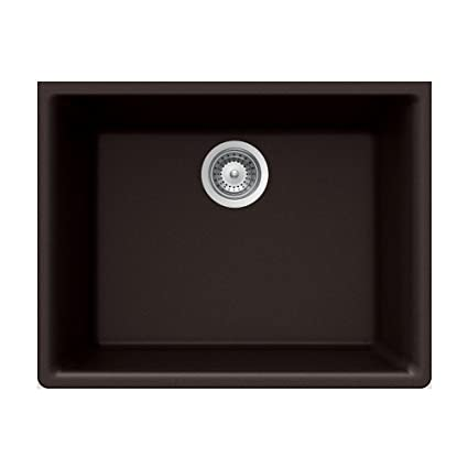 Houzer Galaxy N-100U CHOCOLATE Galaxy Series Undermount Granite Single Bowl Kitchen Sink, Chocolate