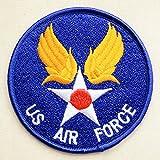 ミリタリーワッペン US Air Force エアフォース(ブルー/ラウンド) MIW-037