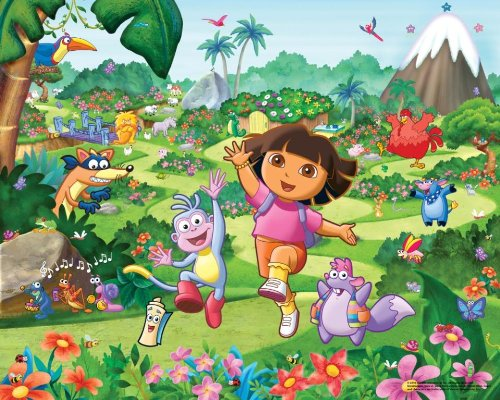 Walltastic Dora the Explorer Wallpaper Mural 8ft x 10ft