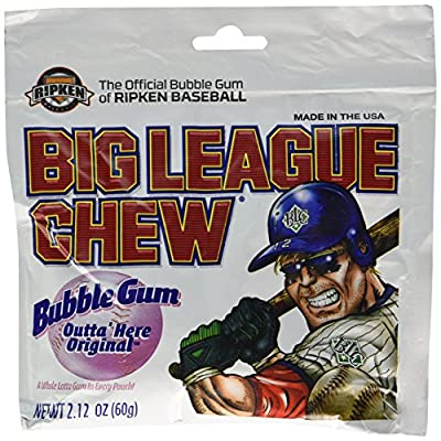 Big League Chew, Outta' Here Original Bubble Gum, 2.12-Ounce Pouches (Pack of 12) from Big League Chew