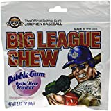Big League Chew, Outta' Here Original Bubble Gum, 2.12-Ounce Pouches (Pack of 12)