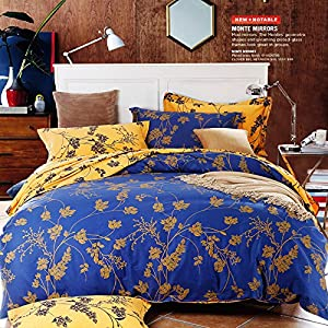 Retro Classic Blue Flower 4pcs Bedding Sets