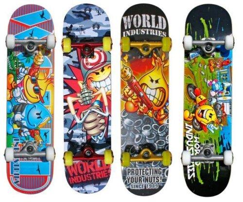 Skate Fashion World Industries Complete Skateboard 4 Styles