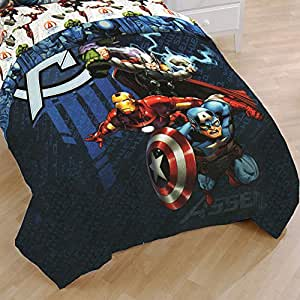 Marvel Avengers Full Bed Comforter Earth's Mightiest Heroes Bedding