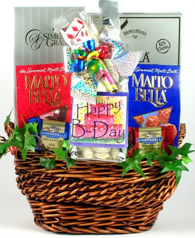 For the Happiest Birthday! Deluxe Birthday Gift Basket