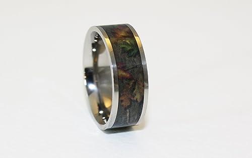 Camo Ring - Titanium Wedding Band - Camo Wedding Ring