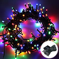 Excelvan 22M Solar String Lights,200 LED Light-Sensitive Starry Fairy lights Ambiance Lighting for Outdoor Decorations,Home,Patio,Garden,Landscape,Christmas Party,Xmas Tree,Waterproof,Multi-colored